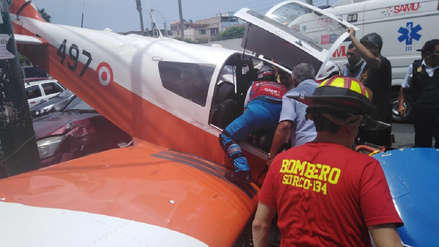 Una avioneta cayó en la cuadra seis de la avenida Surco