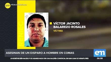 Un hombre fue asesinado a balazos por dos presuntos sicarios en Comas