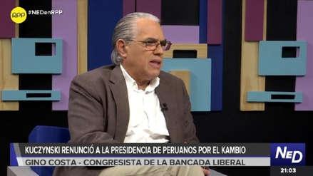 Gino Costa: No buscamos ser la bancada oficialista ni cubrir el espacio de nadie