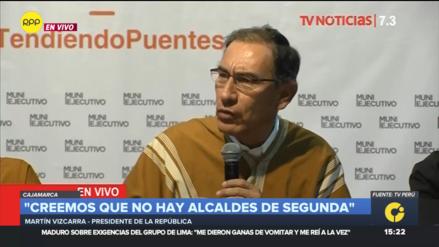 Vizcarra confirmó incremento de sueldos a alcaldes: