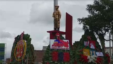 Huancayo | Policías rindieron homenaje a Bily, niño héroe asesinado por intentar frustrar un asalto