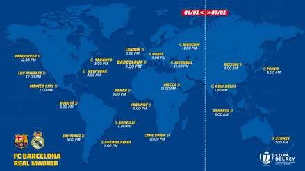 Barcelona vs. Real Madrid: ¿Cómo, cuándo y dónde ver la semifinal de la Copa del Rey?