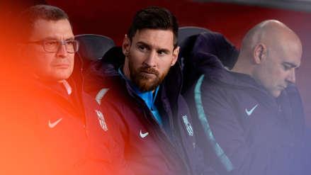 Así vive Lionel Messi el Barcelona vs. Real Madrid desde el banco de suplentes
