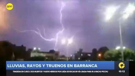 Barranca soportó fuertes e inusuales lluvias con truenos y rayos