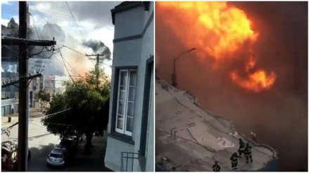 EE.UU.   Incendio por explosión de gas afectó a varios edificios en San Francisco