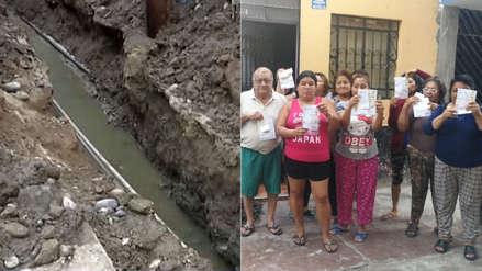 Setenta familias son afectadas por la rotura de una tubería de desagüe en el Callao