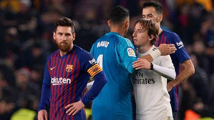 La primera semifinal Barcelona vs. Real Madrid resumida en 10 imágenes