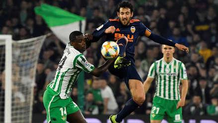 Con gol al último minuto, Valencia rescató un empate ante Betis por la Copa del Rey