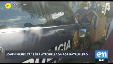 Adolescente murió tras ser atropellada por patrullero en Tumbes