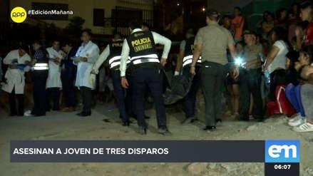 Un joven fue asesinado a balazos en Comas
