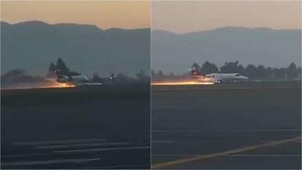 En llamas: Aterrizaje de emergencia de ambulancia aérea fue grabado y compartido en Twitter