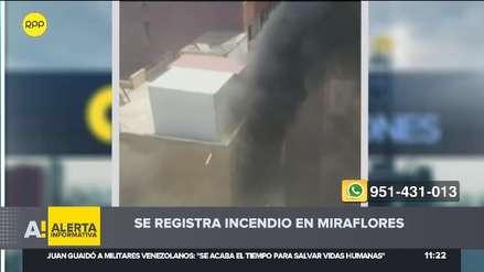 Miraflores: Un incendio se registró en edificio de la avenida Alcanfores