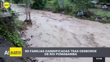 Desborde del río Pomabamba deja un muerto y decenas de damnificados en Áncash [VIDEO]