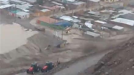 Desborde del Río Moquegua afectó viviendas, pistas y una comisaría
