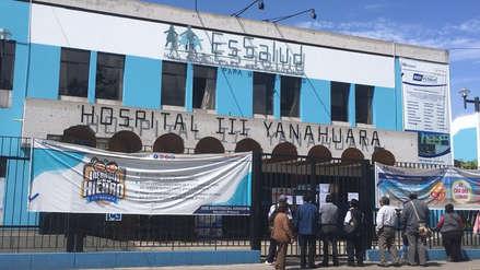 Arequipa   Suspenden atención en hospital de EsSalud por colapso de desagüe