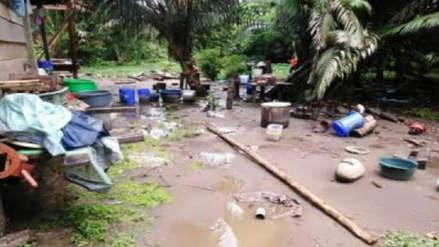 Desborde del río Madre de Dios dejó más de 60 damnificados en distrito de Fitzcarrald