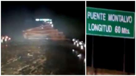 Desborde del río Moquegua provocó el colapso del puente Montalvo
