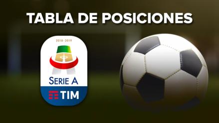 Serie A 2018-19 EN VIVO: así marcha la tabla de posiciones del  del torneo italiano