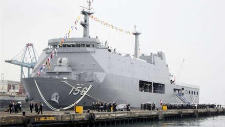 Buque de la Marina de Guerra lleva ayuda humanitaria para afectados por lluvias en el sur