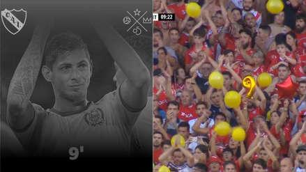 Emiliano Sala: Independiente y el emotivo homenaje en el minuto 9 ante Unión