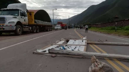 Campesinos bloquearon vías durante primer día del paro agrario en Cusco