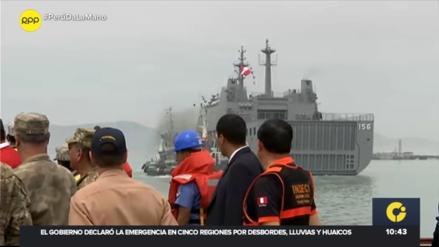 Buque de la Marina de Guerra zarpó con ayuda humanitaria a las regiones del sur del país