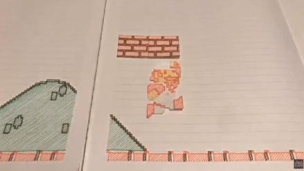 Un fanático recrea el primer Super Mario Bros. en papel y es asombroso