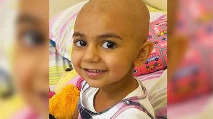 Niña de tres años con cáncer encontró donante al otro lado del mundo en el día de su cumpleaños
