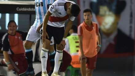 ¡Baja en River Plate! Exequiel Palacios tiene una  fractura en el peroné derecho y no jugará ante Alianza Lima