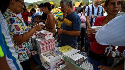 """Venezuela: Vicepresidenta asegura que la ayuda humanitaria de Estados Unidos """"es cancerígena"""""""