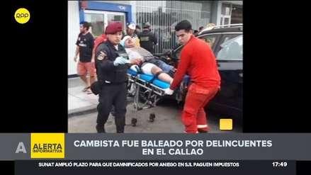 Callao: Cambista fue baleado por delincuentes en la avenida Colonial