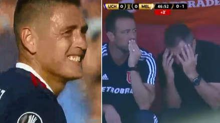 Melgar vs. Universidad de Chile: la reacción del técnico Frank Kudelka tras mala definición de su jugador
