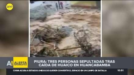 Piura | Tres muertos dejó un deslizamiento por lluvias en Huancabamba