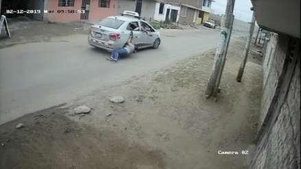 Así arriesgó su vida una mujer para evitar ser víctima de robo en Trujillo