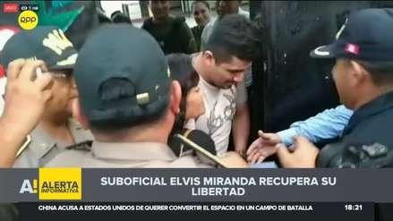El suboficial de la Policía Elvis Miranda salió en libertad