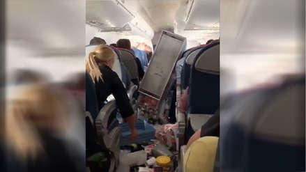 EE.UU. | Momentos de terror vivieron  pasajeros de un avión durante turbulencia que dejó cinco heridos