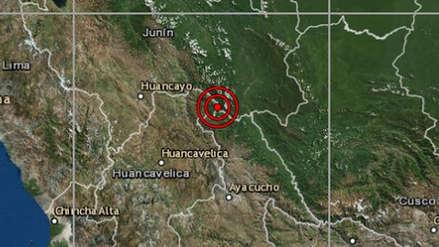 Un sismo de magnitud 5.6 remeció la región Huancavelica