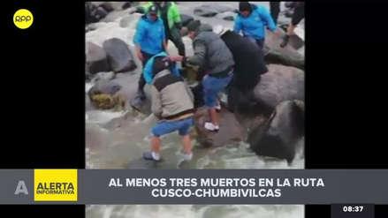 Una miniván con 15 personas a bordo cayó a un río en Chumbivilcas