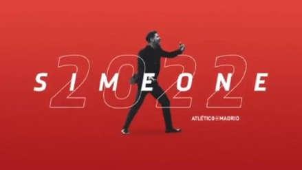 Atlético de Madrid: Diego Simeone amplió contrato hasta el 2022