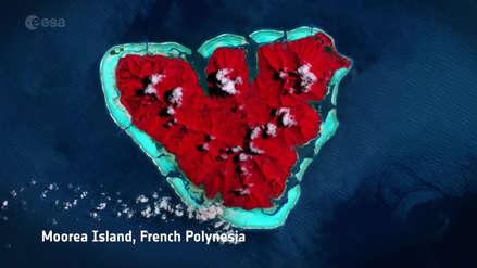 San Valentín: La Agencia Espacial Europea se pone romántica con fotos de la Tierra