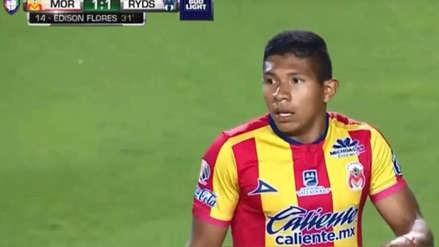 ¡GOL DE EDISON FLORES! 'Orejas' marcó su primer gol con el Monarcas Morelia ante Monterrey