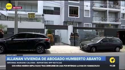 Fiscalía allana inmueble de Humberto Abanto, abogado de Jaime Yoshiyama