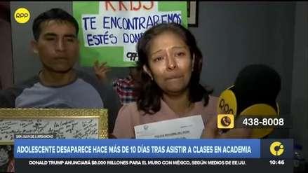 Menor de 15 años desapareció tras salir de su academia en San Juan de Lurigancho
