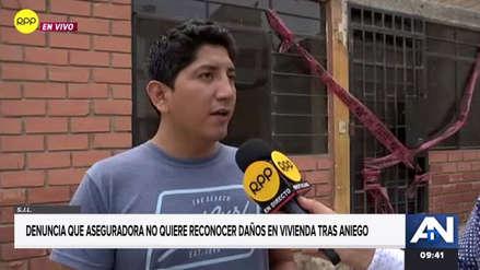 Aniego en San Juan de Lurigancho: Familia denuncia que la aseguradora no quiere reconocer los daños en su casa