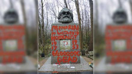 La tumba de Karl Marx en Londres es atacada por segunda vez en dos semanas