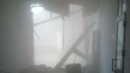 El techo de un edificio universitario se derrumbó en San Petersburgo