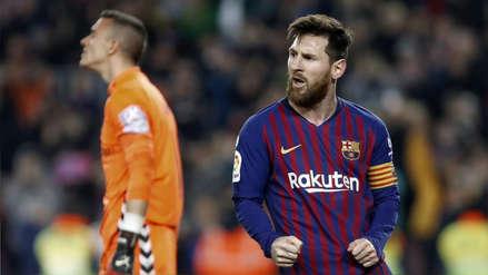 Barcelona ganó 1-0 a Valladolid con gol de Lionel Messi y sigue líder de la Liga de España