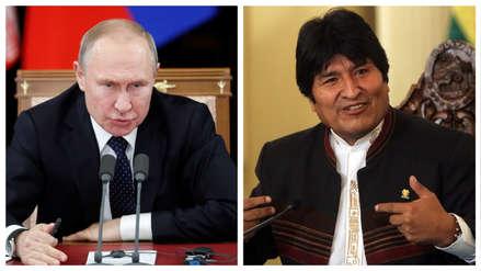 Vladímir Putin invitó a Evo Morales a una visita oficial a Rusia en julio