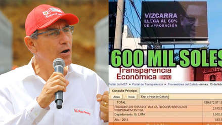 PCM desmiente contratación de panel publicitario a favor de Martín Vizcarra