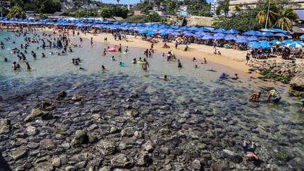 FOTOS | El mar se retiró y desnudó el fondo rocoso de las playas de Acapulco